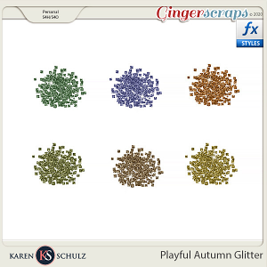 Playful Autumn Glitter by Snickerdoodle Designs and Linda Cumberland Designs