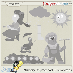 Doodles By Americo: Nursery Rhymes Vol 3 Templates