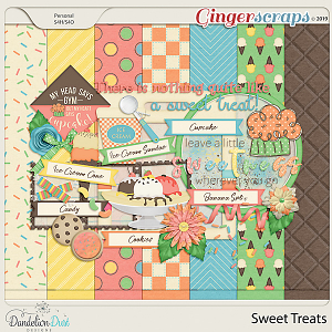 Sweet Treats Digital Scrapbook Kit by Dandelion Dust Designs