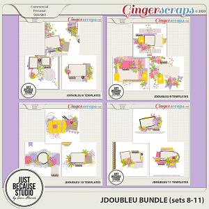 JDoubleU Templates Bundle (sets 8-11) by JB Studio