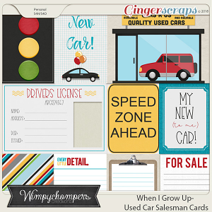 When I Grow Up- Used Car Salesman Cards