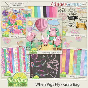 When Pigs Fly GrabBag by Key Lime Digi Design