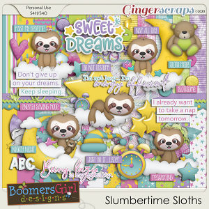 Slumbertime Sloths by BoomersGirl Designs