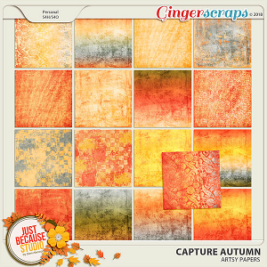 Capture Autumn Artsy Papers by JB Studio