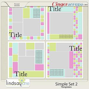 Simple Set 2 Templates by Lindsay Jane