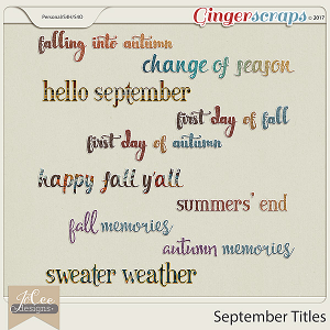 September Titles by JoCee Designs