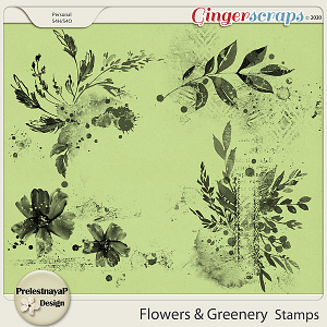 Flowers and Greenery Stamps