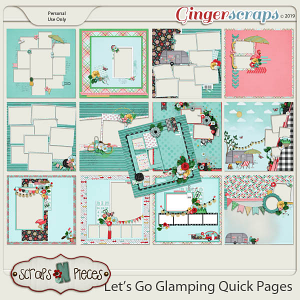 Let's Go Glamping Quick Pages by Scraps N Pieces
