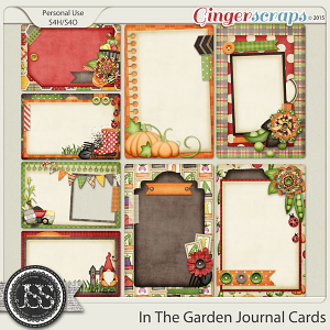 In The Garden Journal and Pocket Scrapbooking Cards