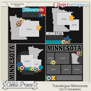 Travelogue Minnesota - 12x12 Temps (CU Ok)