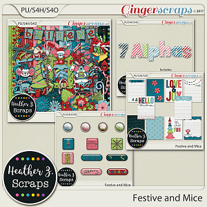 Festive and Mice BUNDLE by Heather Z Scraps