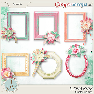 Blown Away Cluster Frames by Ilonka's Designs