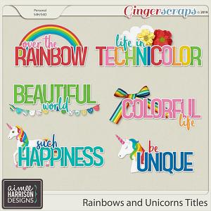 Rainbows and Unicorns Titles by Aimee Harrison