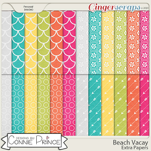 Beach Vacay - Extra Papers by Connie Prince