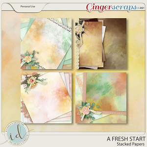 A Fresh Start Stacked Papers by Ilonka's Designs