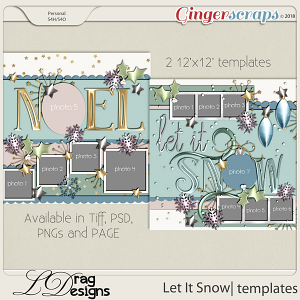 Let It Snow: Templates by LDragDesigns