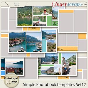 Simple Photobook templates Set 12