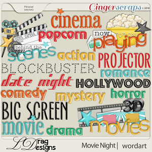 Movie Night: Wordart by LDragDesigns