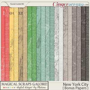 New York City (bonus papers)