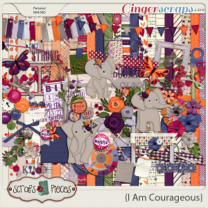 I Am Courageous Bundle by Scraps N Pieces