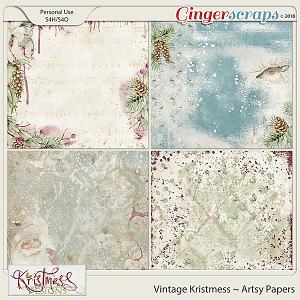 Vintage Kristmess Artsy Papers