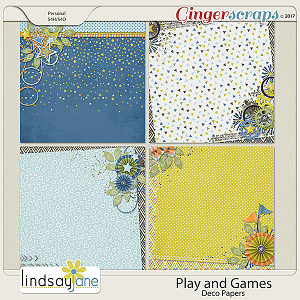 Play and Games Deco Papers by Lindsay Jane