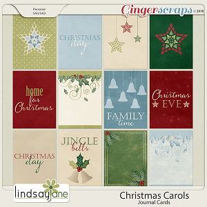 Christmas Carols Journal Cards by Lindsay Jane
