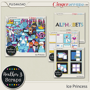 Ice Princess BUNDLE by Heather Z Scraps