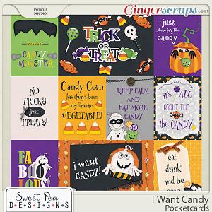 I Want Candy Pocketcards