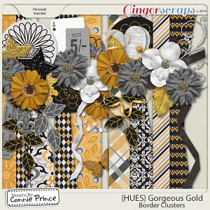 {HUES} Gorgeous Gold - Border Clusters