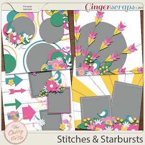 The Cherry On Top:  Stitches and Starbursts Templates