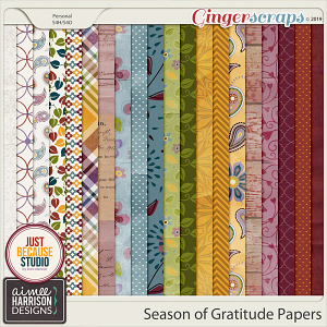 Season of Gratitude Paper Pack by Aimee Harrison and JB Studio