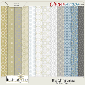 Its Christmas Pattern Papers by Lindsay Jane