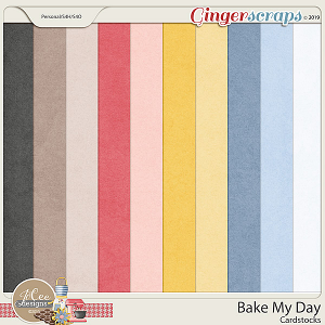 Bake My Day Cardstocks by JoCee Designs