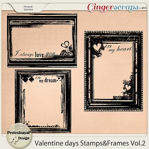 Valentine Day Stamps&Frames Vol.2