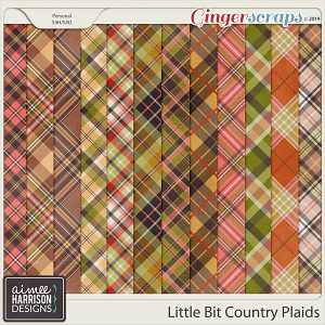 Little Bit Country Plaid Papers by Aimee Harrison