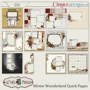 Winter Wonderland Quick Pages by Scraps N Pieces