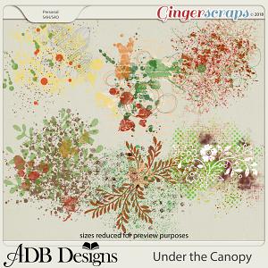 Under The Canopy Splatters by ADB Designs
