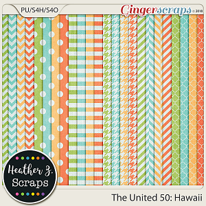 The United 50: Hawaii EXTRA PAPERS by Heather Z Scraps