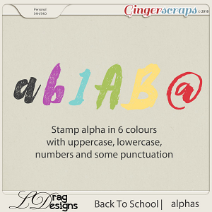 BackTo School: Stamp Alphas by LDrag Designs