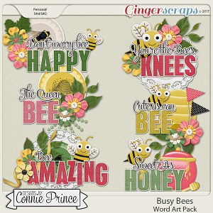 Busy Bees - Word Art Pack