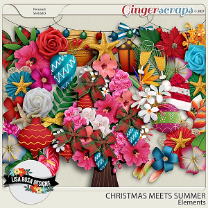Christmas Meets Summer - Elements by Lisa Rosa Designs