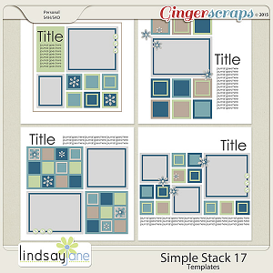 Simple Stack 17 Templates by Lindsay Jane