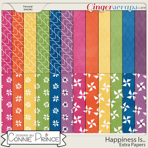 Happiness Is.. - Extra Papers by Connie Prince