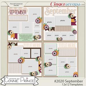#2020 September - 12x12 Template Pack (CU Ok) by Connie Prince