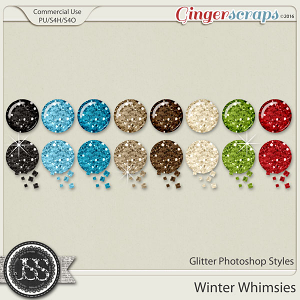 Winter Whimsies CU Glitter Photoshop Styles