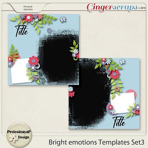 Bright emotions Templates Set4