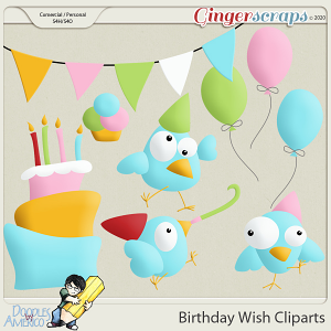 Doodles By Americo: Birthday Wish Cliparts