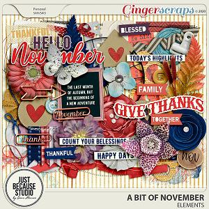 A Bit Of November Elements by JB Studio