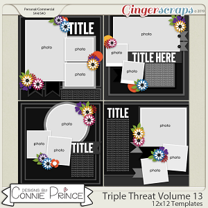 Triple Threat Volume 13 - 12x12 Temps (CU Ok) by Connie Prince